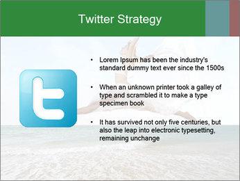 Woman jumping PowerPoint Templates - Slide 9