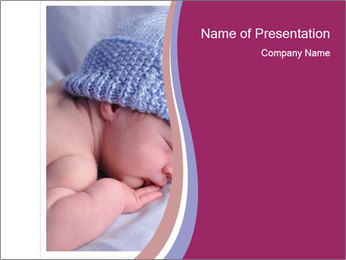A newborn baby PowerPoint Template