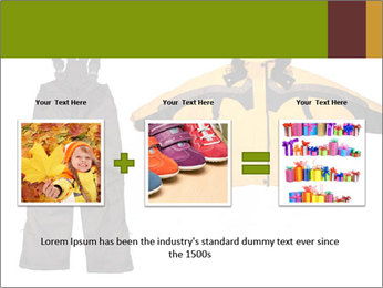 Children's sport clothes PowerPoint Template - Slide 22