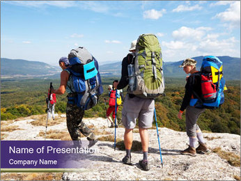 Backpacker PowerPoint Template