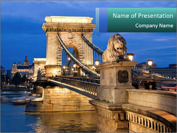 The Chain Bridge PowerPoint Template - Slide 1