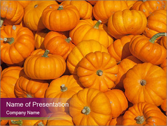 Colorful pumpkins Plantillas de Presentaciones PowerPoint