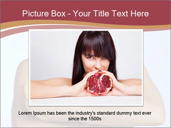 Brunette is holding fruit PowerPoint Templates - Slide 15
