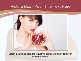 Brunette is holding fruit PowerPoint Templates - Slide 16
