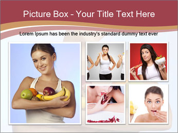 Brunette is holding fruit PowerPoint Templates - Slide 19