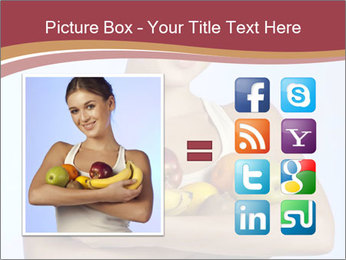 Brunette is holding fruit PowerPoint Templates - Slide 21