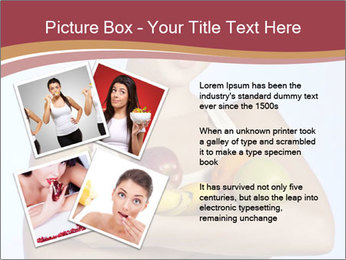 Brunette is holding fruit PowerPoint Templates - Slide 23