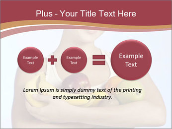 Brunette is holding fruit PowerPoint Templates - Slide 75