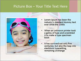 Girl  in the pool PowerPoint Template - Slide 13