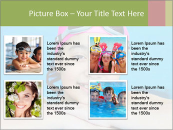 Girl  in the pool PowerPoint Template - Slide 14