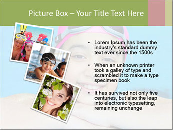 Girl  in the pool PowerPoint Template - Slide 17