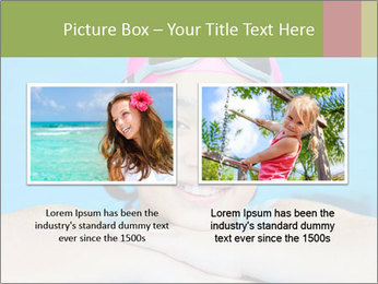 Girl  in the pool PowerPoint Template - Slide 18