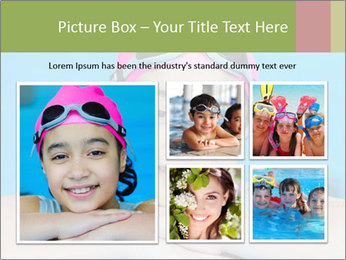 Girl  in the pool PowerPoint Template - Slide 19
