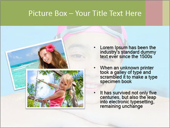 Girl  in the pool PowerPoint Template - Slide 20