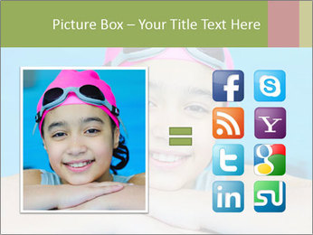 Girl  in the pool PowerPoint Template - Slide 21