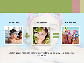 Girl  in the pool PowerPoint Template - Slide 22