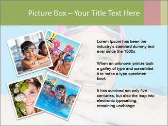 Girl  in the pool PowerPoint Template - Slide 23