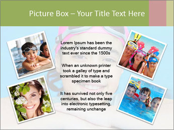 Girl  in the pool PowerPoint Template - Slide 24