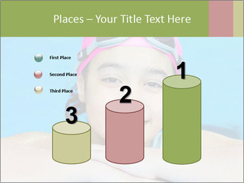 Girl  in the pool PowerPoint Template - Slide 65