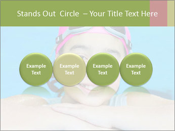 Girl  in the pool PowerPoint Template - Slide 76