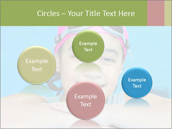 Girl  in the pool PowerPoint Template - Slide 77
