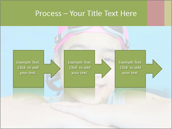 Girl  in the pool PowerPoint Template - Slide 88