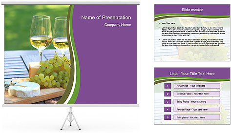 Various sorts of cheese PowerPoint Template