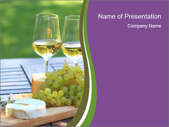 Various sorts of cheese PowerPoint Template - Slide 1