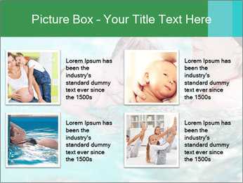 Teaching baby to swim PowerPoint Templates - Slide 14