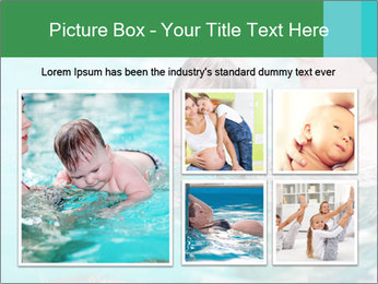 Teaching baby to swim PowerPoint Template - Slide 19