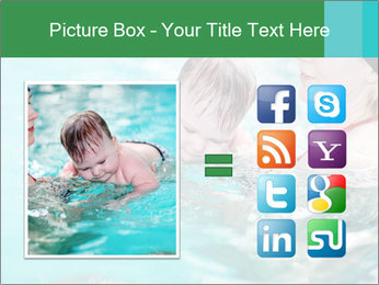 Teaching baby to swim PowerPoint Templates - Slide 21