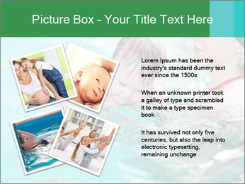 Teaching baby to swim PowerPoint Template - Slide 23
