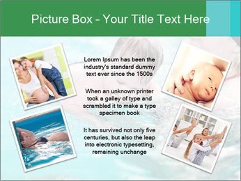Teaching baby to swim PowerPoint Templates - Slide 24