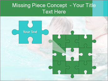 Teaching baby to swim PowerPoint Templates - Slide 45