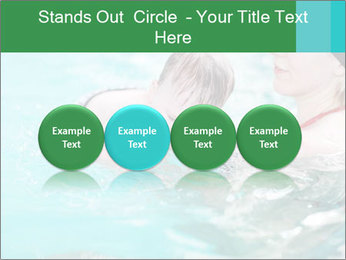 Teaching baby to swim PowerPoint Templates - Slide 76
