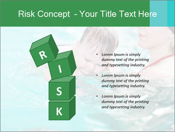 Teaching baby to swim PowerPoint Template - Slide 81