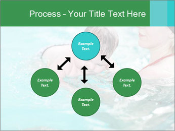 Teaching baby to swim PowerPoint Templates - Slide 91