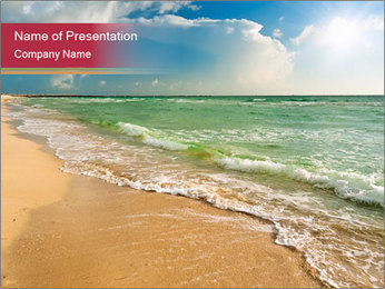 Golden Beach PowerPoint Template - Slide 1