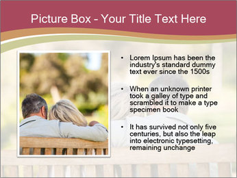 Retired Couple Sitting On Bench PowerPoint Template - Slide 13