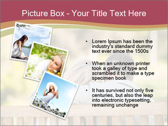 Retired Couple Sitting On Bench PowerPoint Templates - Slide 17