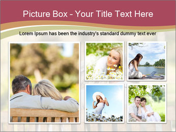 Retired Couple Sitting On Bench PowerPoint Template - Slide 19