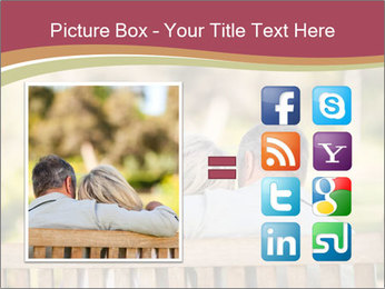 Retired Couple Sitting On Bench PowerPoint Template - Slide 21