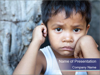 Asian boy PowerPoint Template