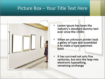 Woman at Art PowerPoint Template - Slide 13