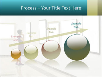 Woman at Art PowerPoint Template - Slide 87