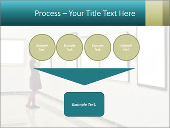 Woman at Art PowerPoint Template - Slide 93