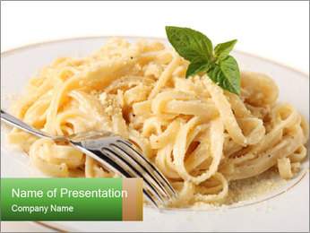 Pasta With Cheese PowerPoint Template - Slide 1