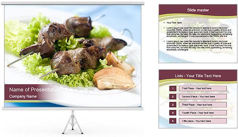 Kebab Dish PowerPoint Template