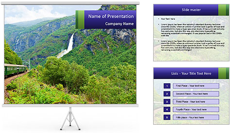 Nature In Scandinavia PowerPoint Template