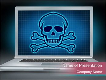 PC Virus PowerPoint Template - Slide 1